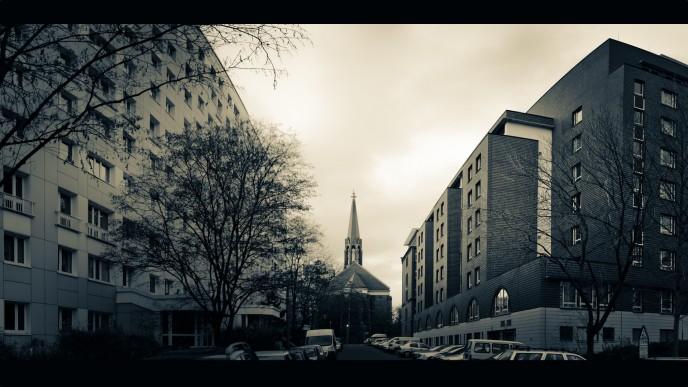 church modern surrounding